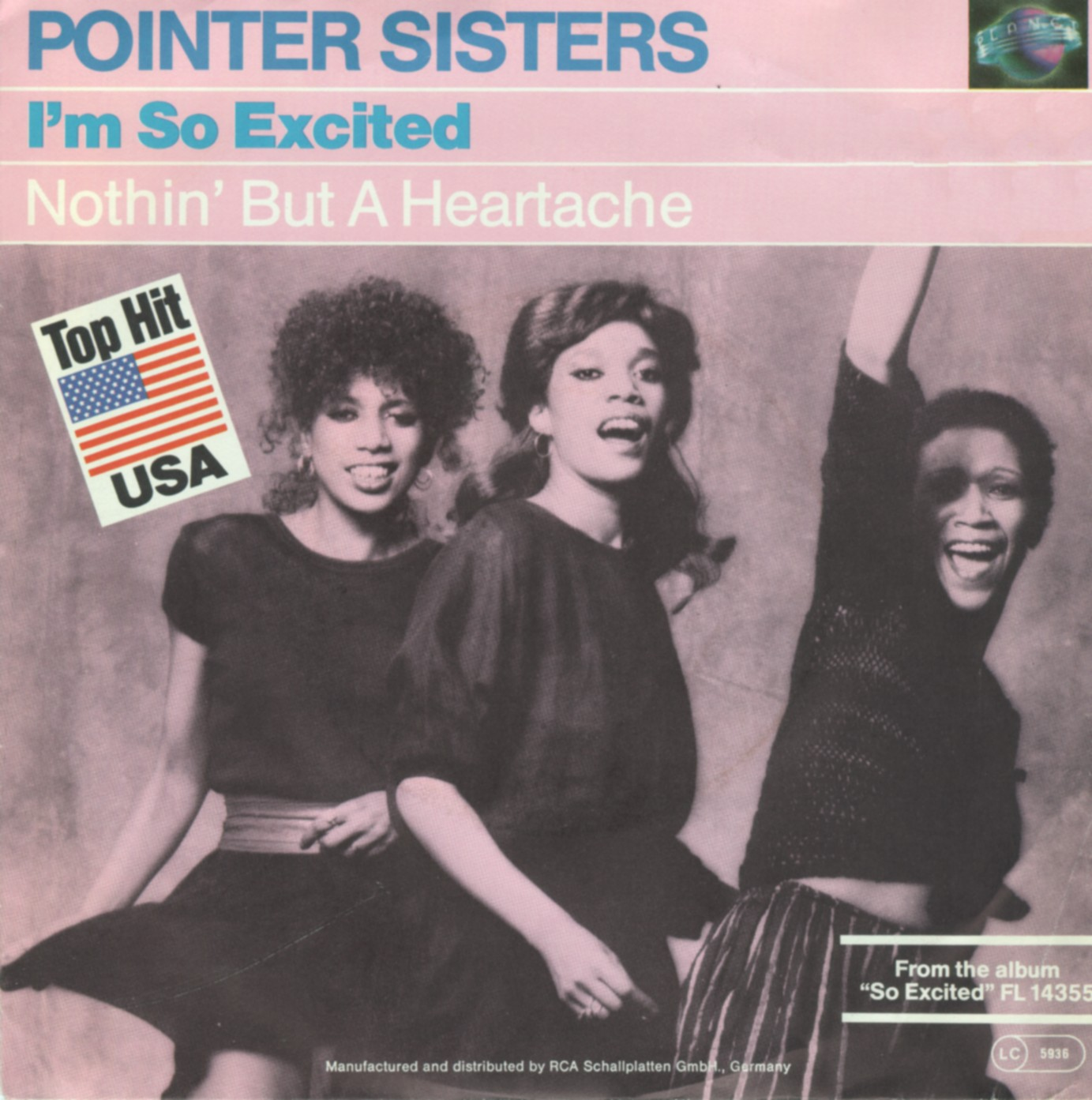 Cover: I'm so excited, The Pointer Sisters