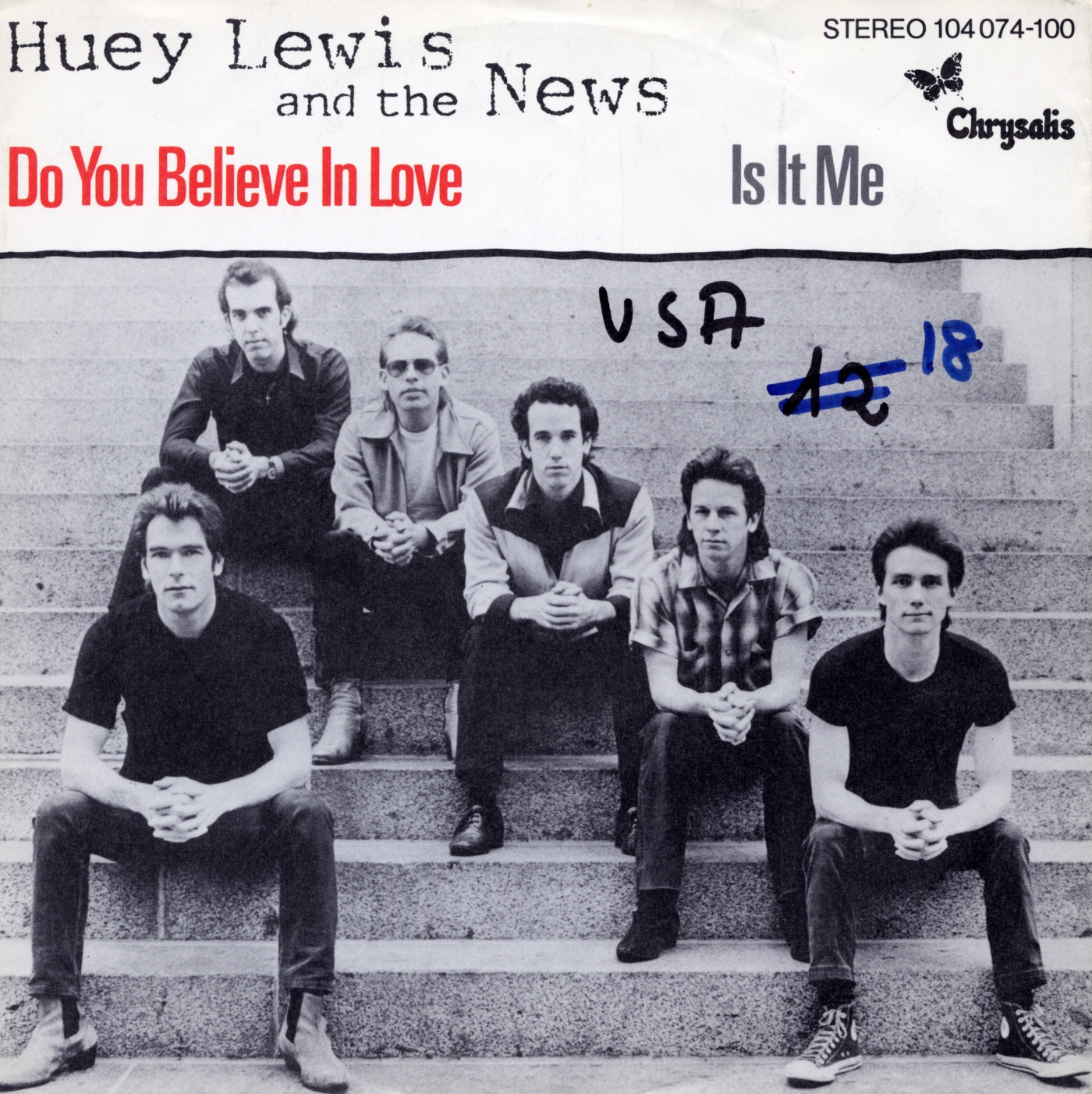 Cover: Do you believe in love, Huey Lewis & The News