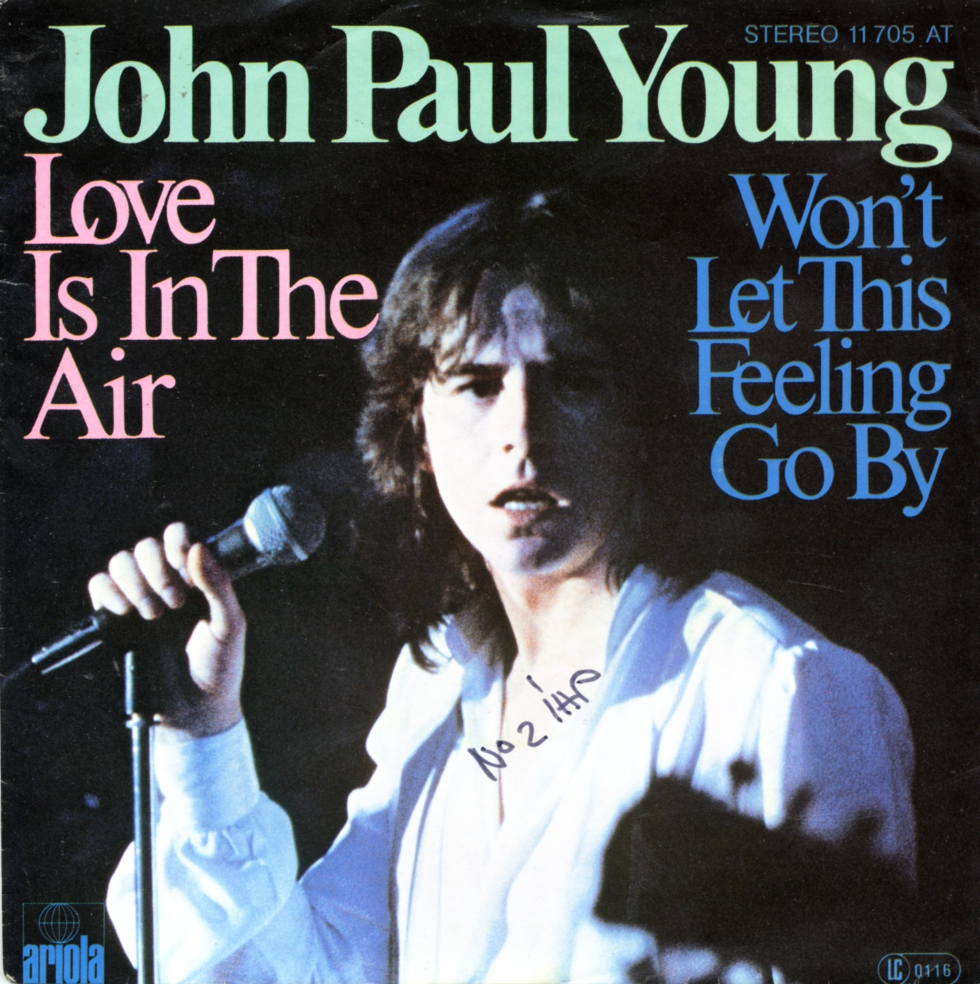 Cover: Love is in the air, John Paul Young