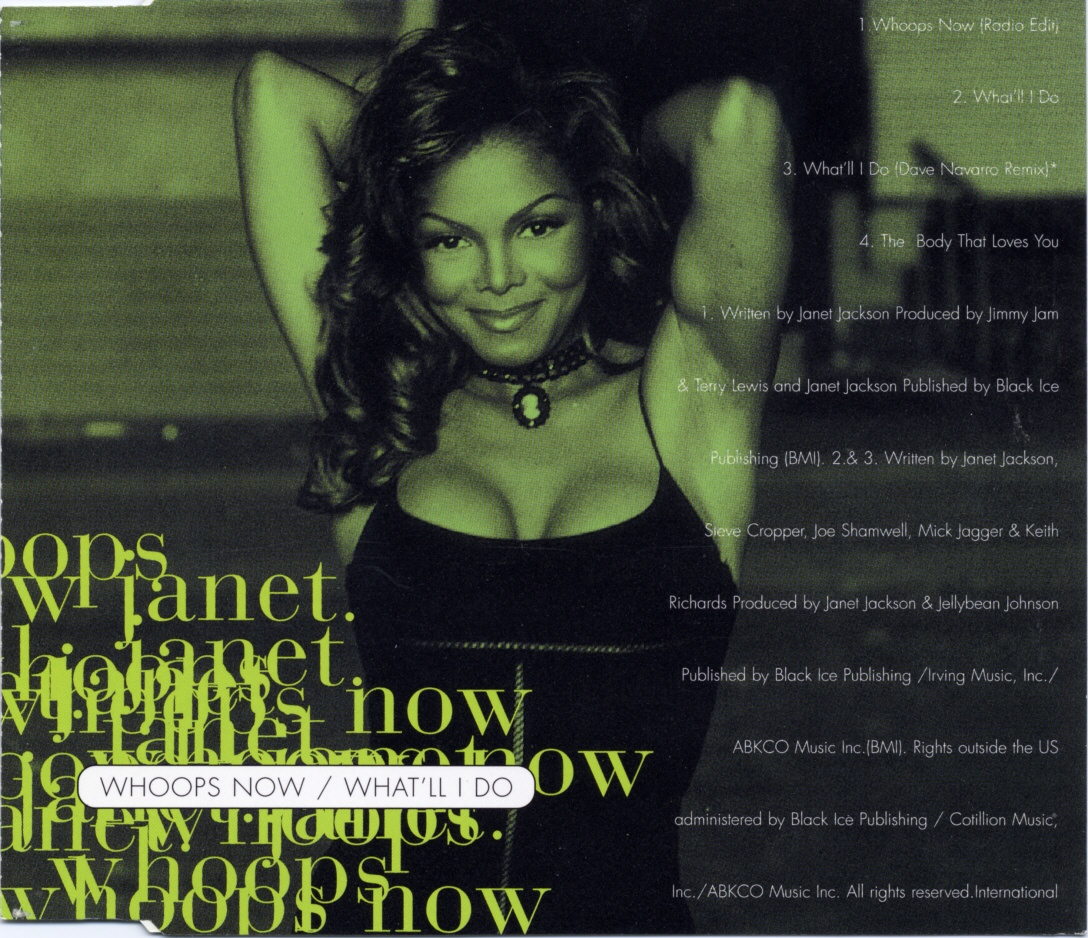 Cover: Whoops now, Janet Jackson