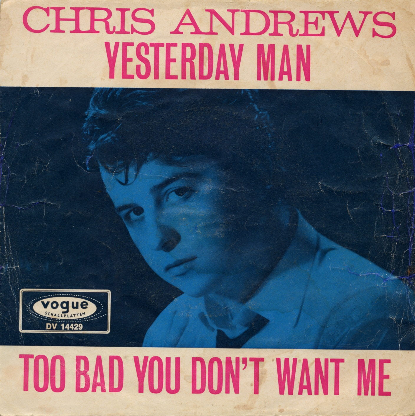 Cover: Yesterday man, Chris Andrews