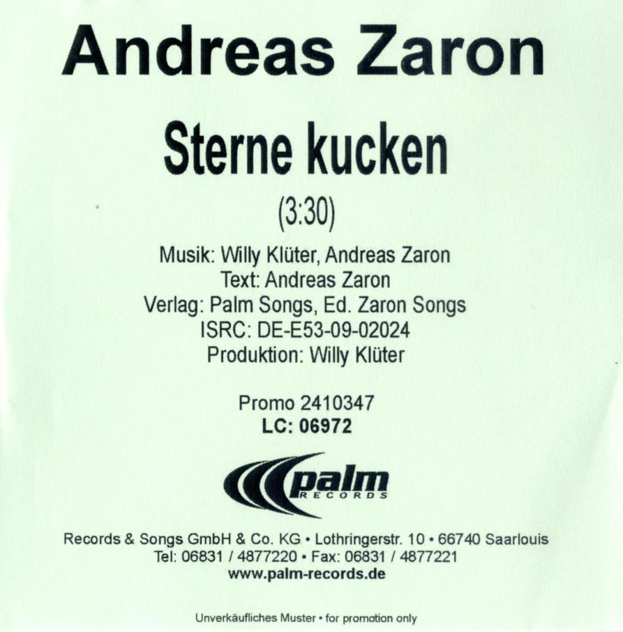 Cover: Sterne kucken, Andreas Zaron